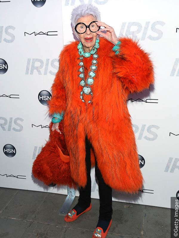 Iris apple is a true style icon.